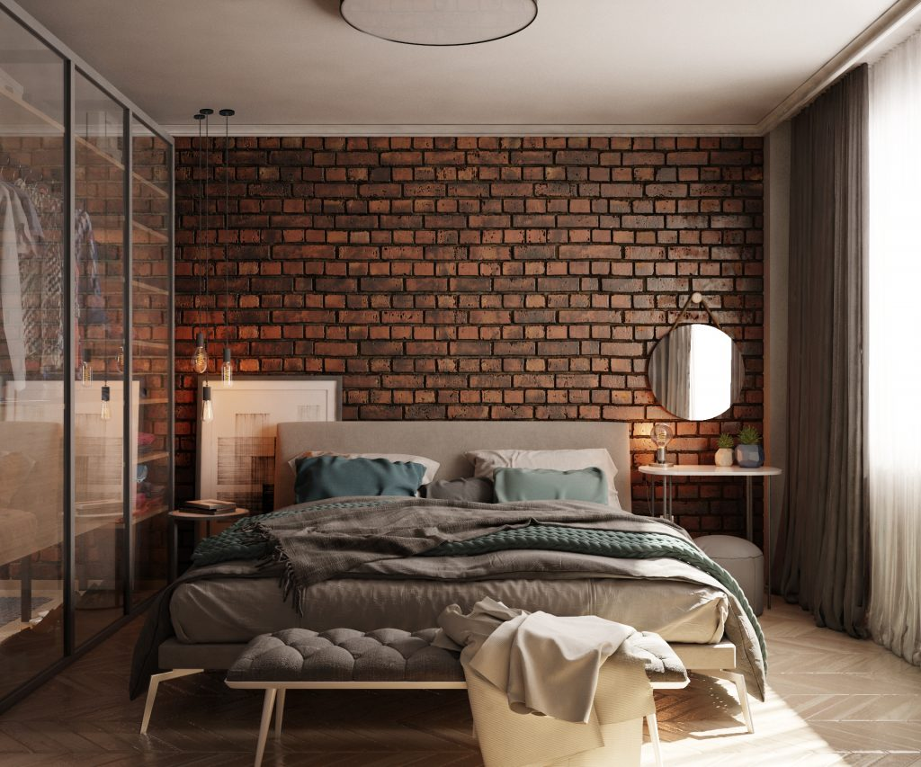 Bedroom in Sofia, Bulgaria.