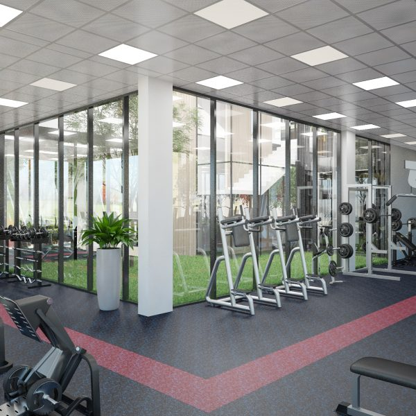 Small fitness club.